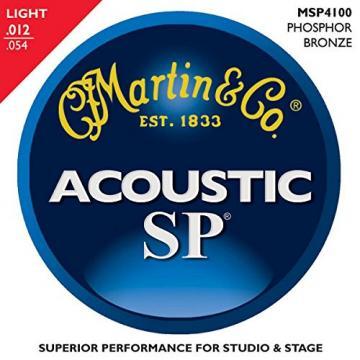 Martin MSP4100 SP Phosphor Bronze Light 12-Pack Acoustic Guitar Strings