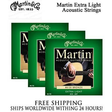 Sets - Martin M170 Acoustic Guitar Strings Extra Light 80/20 Bronze
