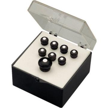 Martin Bridge and End Pin Set, Black with White Dots