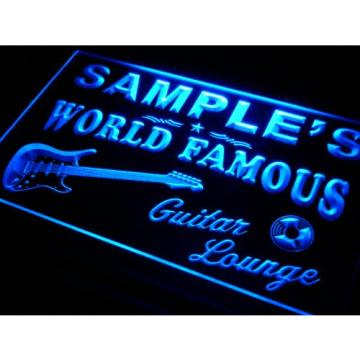 pf085-b Martin's Guitar Lounge Beer Bar Pub Room Neon Light Sign