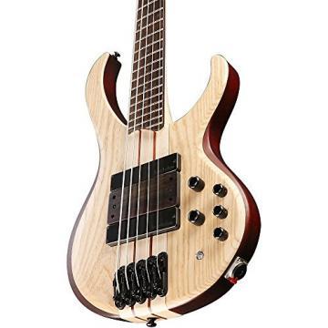 Ibanez BTB33 5-String Electric Bass Guitar Flat Natural