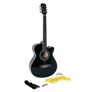 Martin Smith W-401E-BK Electric Acoustic Guitar Cutaway, Black