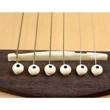 Acoustic Guitar Cream Bridge Pins With Black Dot(Pack Of 6)