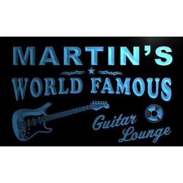 pf1016-b Martin's Guitar Lounge Beer Bar Pub Room Neon Light Sign