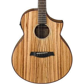 Ibanez Exotic Wood AEW40ZWNT A/E Zebrawood Guitar w/Effin Tuner & More