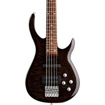 Rogue LX405 Series III Pro 5-String Electric Bass Guitar Transparent Black