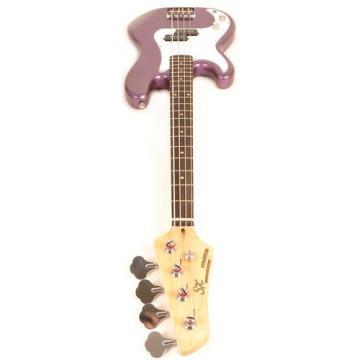 SX Ursa 1 JR RN PK MPP Purple Left Handed Bass Guitar Package w/Free Amp Bag, Strap and Instructional DVD
