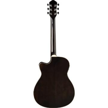 Oscar Schmidt OACEF-TB Auditorium Style Cutaway Acoustic-Electric Guitar -Transparent Black