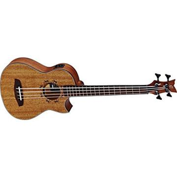 Ortega Guitars PM-SHAMAN Signature Series 4-String Uke Bass with Pickup