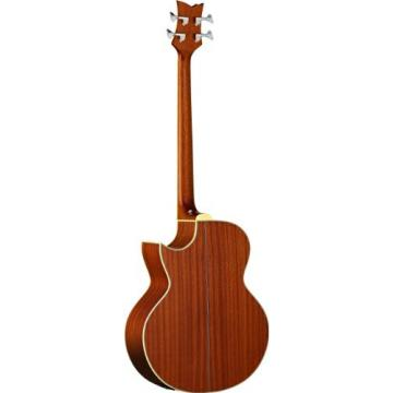 Ortega Guitars D1-4-BK Deep One 4-String Acoustic Bass with Solid Spruce Top and Mahogany Body, Black Gloss