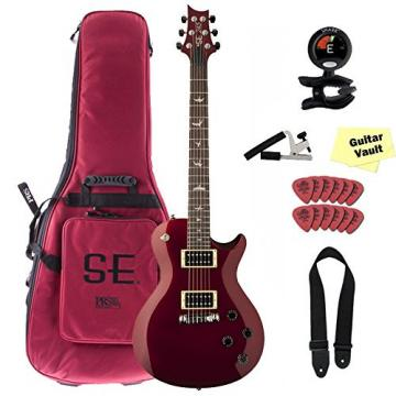 PRS SE 245 Red Metallic Electric Guitar With Gig Bag and Bundle