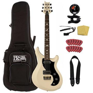 PRS S2 Vela with Bird Inlays, Antique White, w/ Accessory Pack and Gig Bag