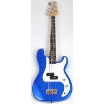 Ursa 1 JR RN PK EB Blue Bass Guitar Package w/Free Carry Bag, Amp and DVD