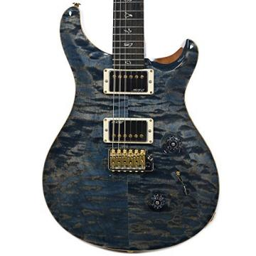 PRS CME Wood Library Custom 24 10 Top Quilt Faded Whale Blue w/Pattern Regular Neck