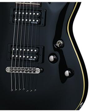 Schecter OMEN-7 7-String Electric Guitar, Black