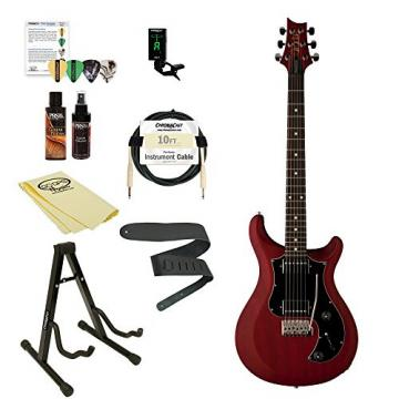 PRS D2TD03_1N-KIT-1 S2 Standard 22 Electric Guitar with ChromaCast Accessories, Satin Vintage Cherry