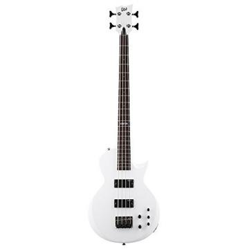 ESP EC Bass LEC154SW 4-String Bass Guitar, Snow White
