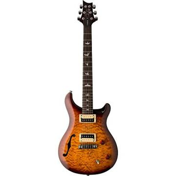 PRS SE Custom 22 Semi-Hollow Electric Guitar Tobacco Sunburst