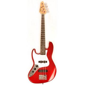 Ursa 2 JR RN PK CAR Left Handed Red 3/4 Size Bass Guitar Package w/Free Carry Bag, Amp and Instructional Video