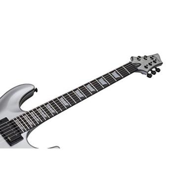 Schecter C-1 PLATINUM Satin Silver Solid-Body Electric Guitar, Satin Silver