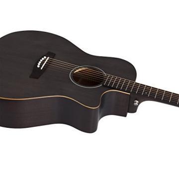 Schecter 3716 Acoustic Guitar, Satin See-Thru Black