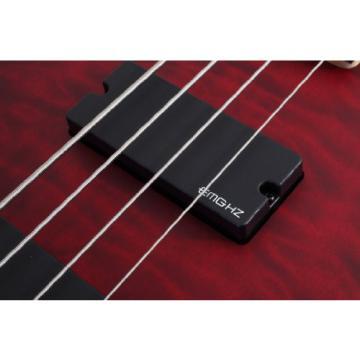 Schecter Stiletto Custom-4 Electric Bass Guitar (4 String, Vampyer Red Satin)