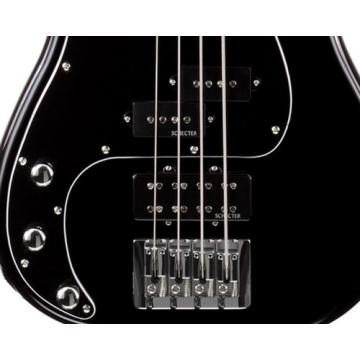 Schecter Electric Bass Guitar - Diamond P Custom 5-string, Black, Left Handed