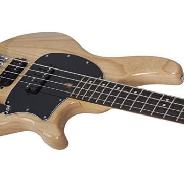 Schecter 2490 4-String Bass Guitar, Gloss Natural