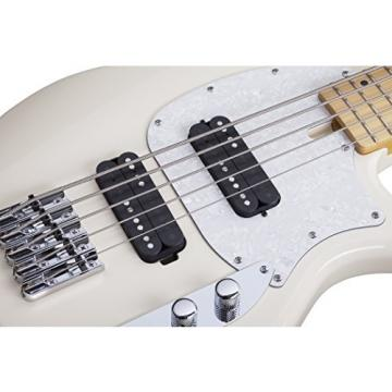 Schecter 2495 5-String Bass Guitar, Ivory