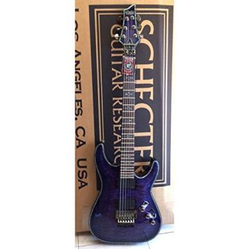 Schecter Hellraiser C-1 FR PBQ Special Edition Purple Blue Quilt