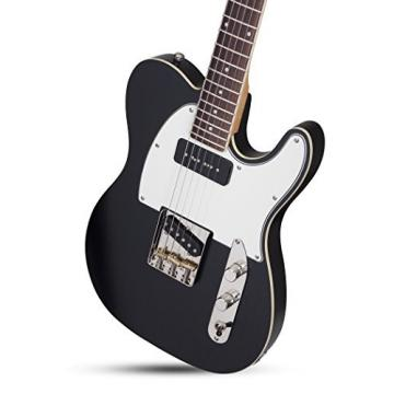 Schecter 666 Solid-Body Electric Guitar, Black Pearl