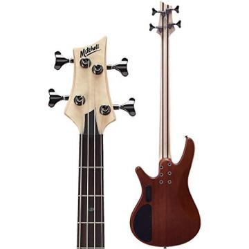 Mitchell FB700 Fusion Series Bass Guitar with Active EQ Natural