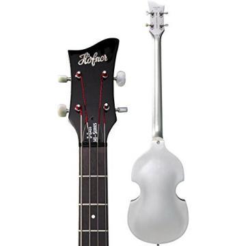 Hofner Igntion LTD Violin Electric Bass Guitar Silver Sparkle