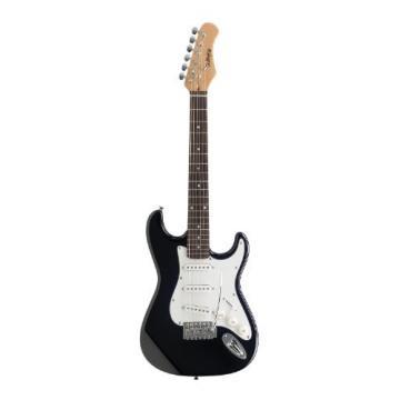 Challenge CH-E11134-BK Standard 3/4 Electric Guitar, Black