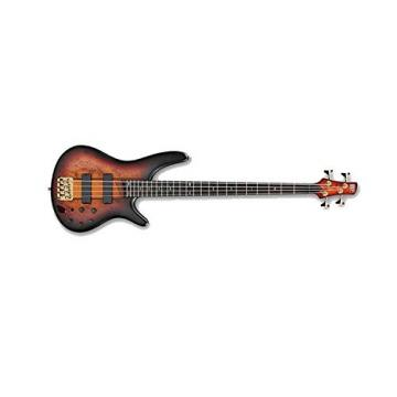 Ibanez SR800 4-String Electric Bass Guitar in Aged Whiskey Burst Finish with Kaces KQA-120 GigPak Acoustic Guitar Bag and Custom Designed Instrument Cloth