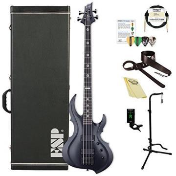 ESP ETARAYAFRXBLKS Tom Araya Signature Series FRX Electric Bass, Black Satin