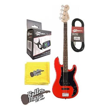 Fender Squier AFFINITY SERIES PRECISION BASS Race Red w/Tuner & More