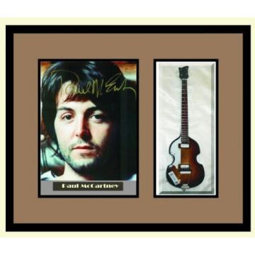 PAUL McCARTNEY Guitar Shadowbox Shadow Box Frame Beatles