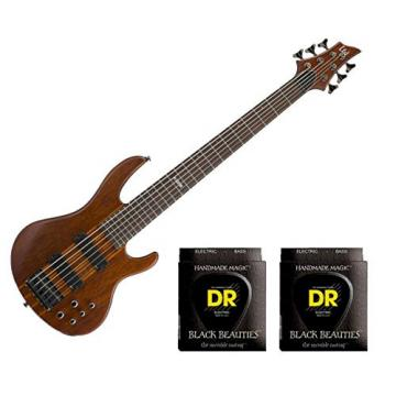 ESP LTD D-6 Natural Satin w/2 Sets DR Strings BKB6-30