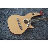 Custom Shop 6 6 8 String Acoustic Electric Double Neck Harp Guitar