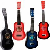 "4Pcs guitar martin 23"" martin acoustic guitar strings Black guitar strings martin Pink martin Blue dreadnought acoustic guitar and Red Acoustic Guitar & Pick & Strings for Boys and Girls"