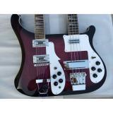 Double Neck Rickenbacker Purple 4 String Bass 12 String Guitar