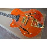 Custom G6120 Gretsch Left Handed Orange Electric Guitar