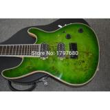 Custom Built Regius 7 String Transparent Green Mayones Guitar