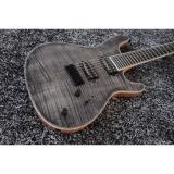 Custom Built Regius 7 String Gray Tiger Maple Top Finish Mayones Guitar